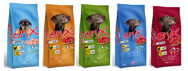 Italian pet food for dog Eryx