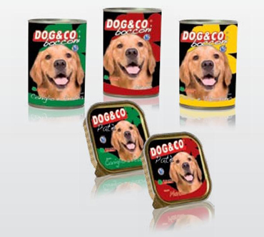 Italian wet food for dog pate and chops Dog&Co